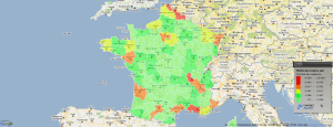 Carte de France des médecins