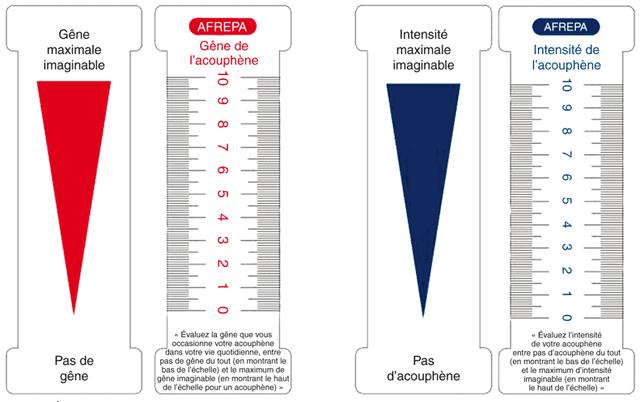 échelle EVA hyperacousie acouphène AFREPA