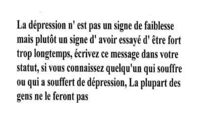 depression faiblesse signe