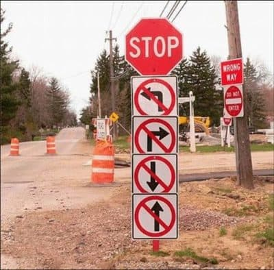 stop sens interdit